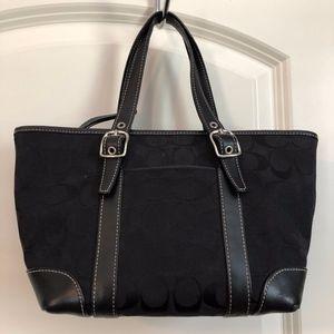 Classic Coach Signature Jacquard Handbag